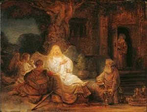 De engelen op bezoek bij Abraham