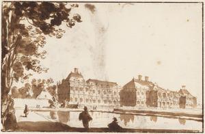 Huis ter Nieuburch te Rijswijk, gezien vanaf de tuin