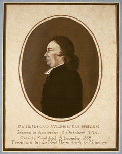 Portret van Henricus Wilhelmus Benier (1761-1838)