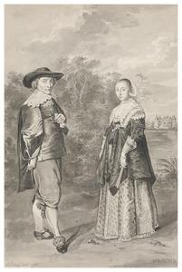 Portret van Anna Eeuwoutsdr. Prins (1619-1677) en Eeuwout Eeuwoutsz. Prins (1622-1662)