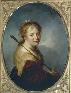 Portret van een onbekende vrouw als herderin