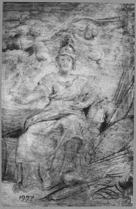 Portret van Maria de' Medici (1575-1642) als de personificatie van Bellona