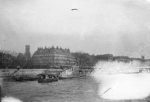 Gezicht op de seine te Parijs
