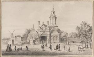 Het Haarlemmerplein met de Haarlemmerpoort te Amsterdam