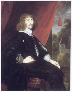 Portret van een onbekende chevalier van de Ordre du Saint Esprit