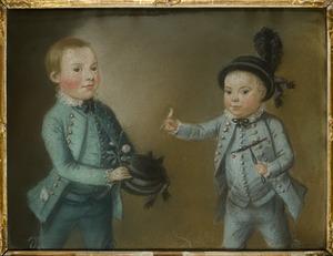 Dubbelportret van Arnoldus Fredericus Johannes Pichot (1771-1798) en Samuel Paulus Pichot Lespinasse (1772-1835)