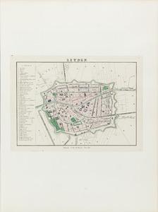 Plattegrond van Leiden