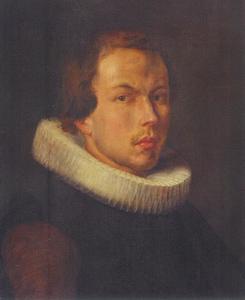 Portret van een jonge man met een grote plooikraag