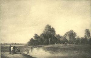 Landschap met vissers