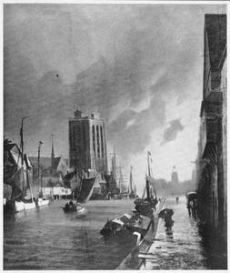 Gezicht op de Grote Kerk in Dordrecht