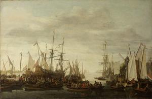 Het kielhalen, volgens overlevering, van de scheepschirurgijn van admiraal Jan van Nes