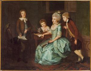 Portret van de kinderen van Jean Daniel de Loches (?-?) en Marie Josine Baldine van Oldenbarnevelt (?-?)