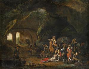 Schermutseling in een grot