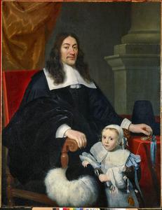 Portret van William Davidson (ca. 1615-1678) met zijn zoon Charles (1661-1665)