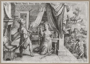 Circe smeekt Odysseus om vergiffenis nadat hij haar toverdrank had geweigerd