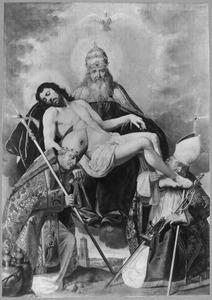 De H. Drieëenheid vereerd door de HH. Willebrordus en Bonifatius, de eerste twee bisschoppen van Utrecht