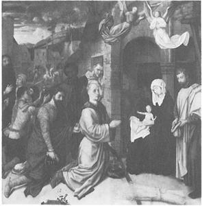 Aanbidding der Koningen voor de stal op de heuvel