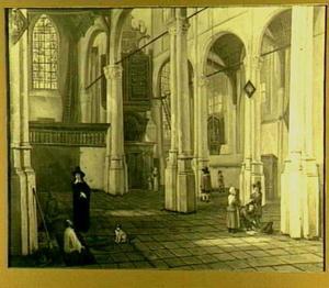 Interieur van de Sint Janskerk te Gouda