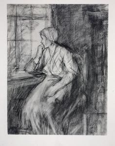 Vrouw aan het raam