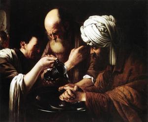 Pilatus wast zijn handen in onschuld