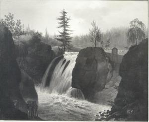 De Helwede waterval bij Eger (Eiker)