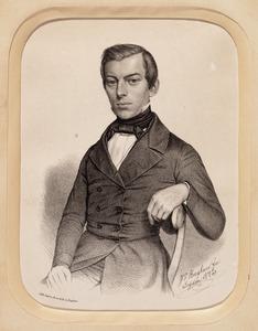Portret van Johannes Willem Hoyer (1823-1853)