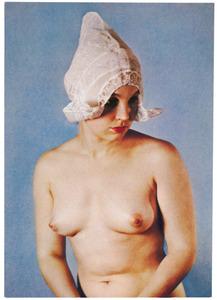 Portret van een Hollands meisje met kap