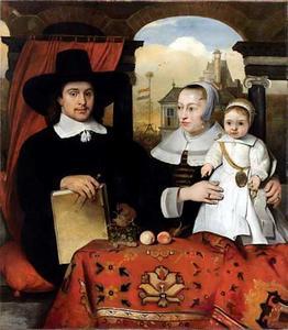 Portret van Willem van der Helm (?-1675), Belytgen Cornelisdr. van der Schel (?-1661) en Leendert van der Helm (1655-1664)