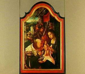 De aanbidding der wijzen (Melchior en Caspar)