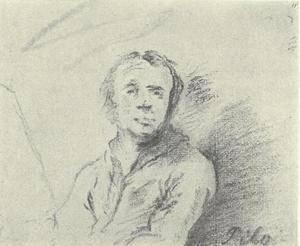 Zelfportret van Carl Gustav Pilo