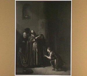 David ontvangt de tijding van Sauls dood en scheurt zijn klederen (2 Samuel 1:1-11)
