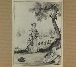 Portret van Hillegonda Louise Schellinger (1674-?) op Curaçao