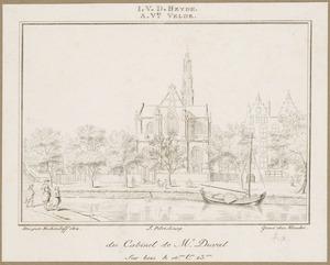 Gezicht op Amsterdam met de Westerkerk