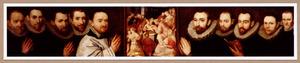 Predella met de Besnijdenis van Christus en de portretten van leden van het barbiers- en chirurgijnsgilde van Antwerpen