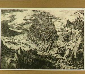 De bouw van de Toren van Babel (Genesis 11:3-5)
