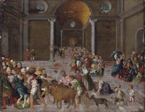 Christus verdrijft de handelaren uit de tempel