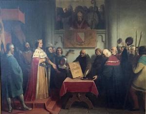 De Roomskoning Graaf Willem II van Holland laat zich als poorter inschrijven te Utrecht in 1249