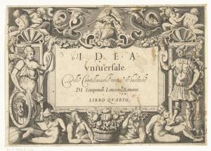 Titelpagina van: 'Idea universale della Cancellaresche corsive et bastarde'.