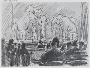 Olifanten op het toneel van het Theater Scala, Den Haag