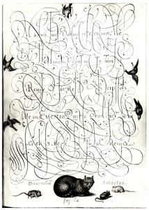 Kat en muizen met motto Dissimilium infida societas