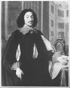 Portret van Nicolas Lambert de Thorigny (?-?) voor het hôtel Lambert