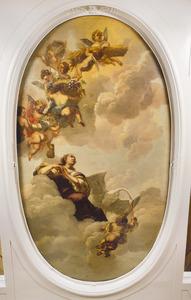 Allegorie op de dankbaarheid jegens het huis van Oranje wegens de overvloed en rijkdom