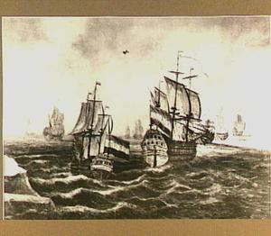 Hollandse schepen op zee