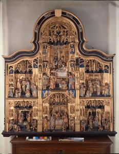 Retabel met het leven van Maria en de kindsheid van Christus