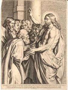 Christus overhandigt de sleutels aan Peterus