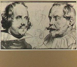 Portretten van Paulus Pontius (1603-1658) en Sebastiaan Vrancx (1573-1647)
