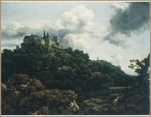 Landschap met gezicht op kasteel Bentheim