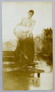 Wasvrouw aan de Vest in Rotterdam