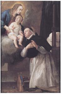 De droom van de graaf von Plettenberg, die zichzelf zag als een bisschop de Madonna aanbiddend