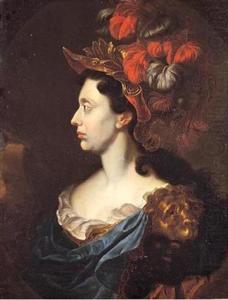 Portret van keurvorstin Anna Maria Luisa van de Palts als Minerva